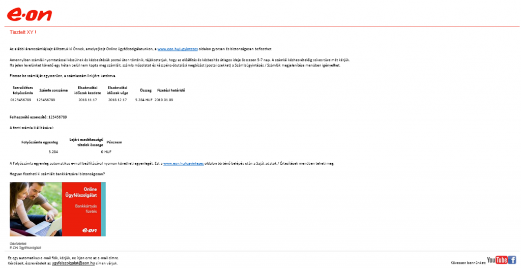 EON átverős e-mail